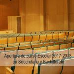 Reunión apertura de curso en Secundaria y Bachillerato